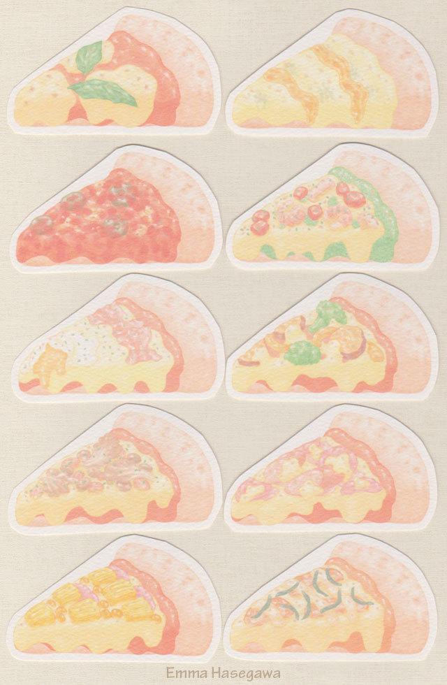 ピッツァの形のカード