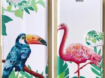 手帳型スマホケース - 南国鳥