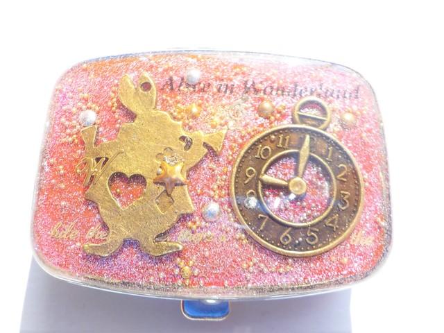 ピンク!らっぱうさぎと時計のピルケー...