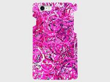 アートペイント「スプラッシュサークル(ピンク)」 iphone 5/5s/6/6s/SE/7専用 ハードケース