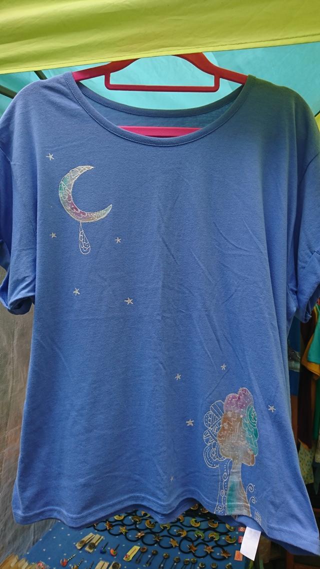 夜の樹と月のキラキラシャツ☆☆