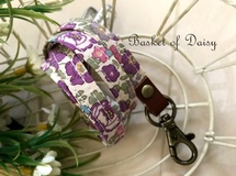 再販 リバティ 秋のネックストラップ ベッツィ 紫