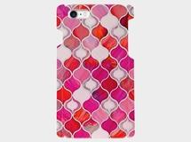 グラスタイル アラベスクパターン(ホリデーレッド)iphone 5/5s/6/6s/SE/7専用 ハードケース