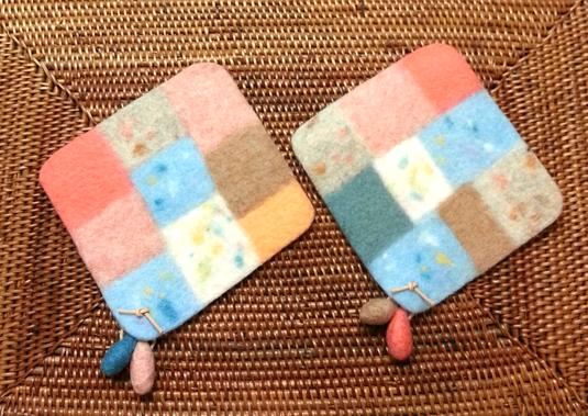 羊毛フェルト*コースター(2枚セット)