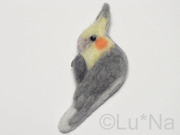 鳥のクリップ・ピン【オカメインコ】