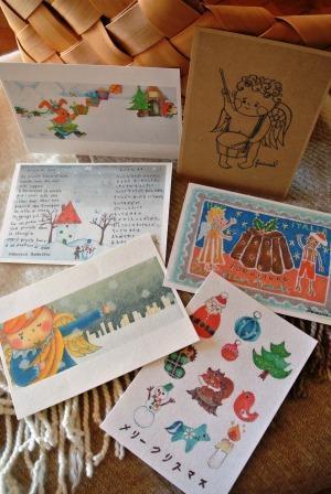 クリスマスカード6sheet set 雪と天使シリーズ