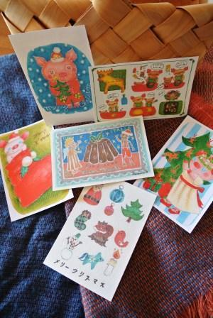クリスマスカード6sheet set こぶたのぷーたんシリーズ