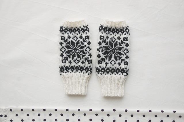 手編みの指なしミトン【Scandinavian st...