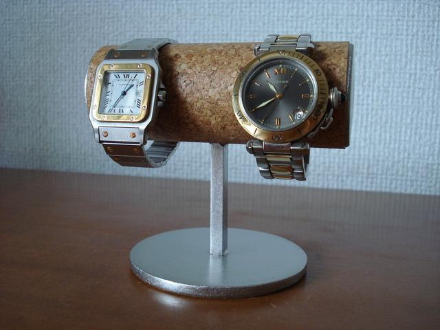 プレゼントに! 2本掛け腕時計スタン...