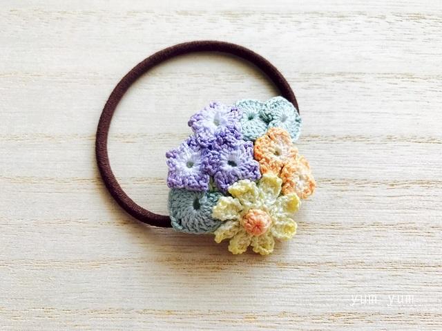 草花のブーケヘアゴム7