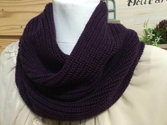 ねじり入りスヌード 紫