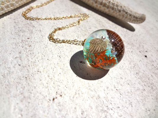 <SOLD OUT>      Seascape Necklace I
