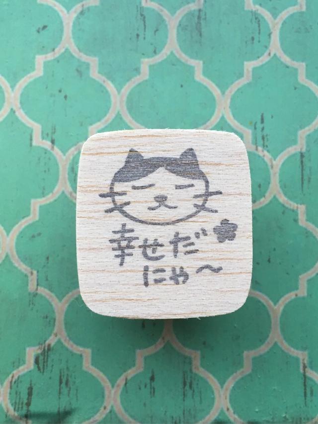 ハチワレ猫 幸せだにゃ〜