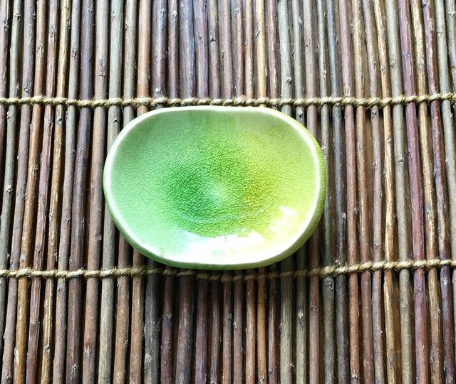 ★森色ガラス豆皿