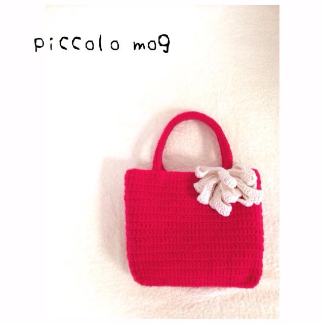 真っ赤な毛糸Bag