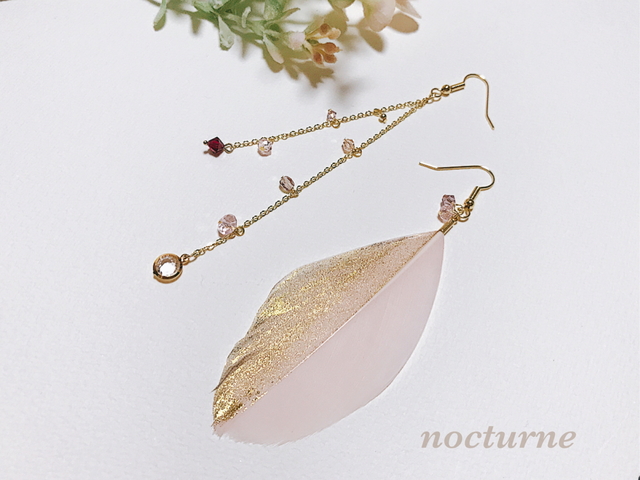 【14kgf】gold shower feather pierce