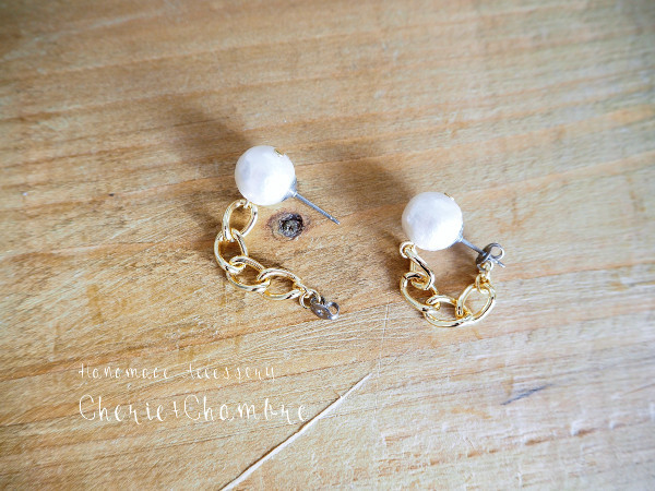 Cotton Pearl ×Chain Pierce