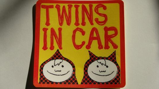 双子 ステッカー TWINS IN CAR 【再販】