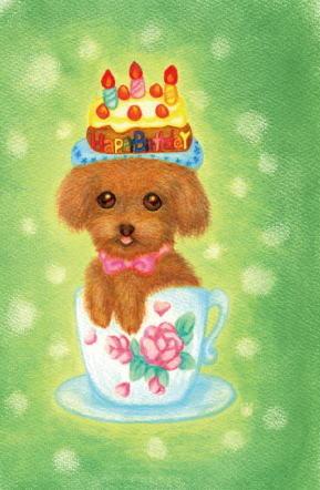 ポストカードセット4枚組「春季犬」