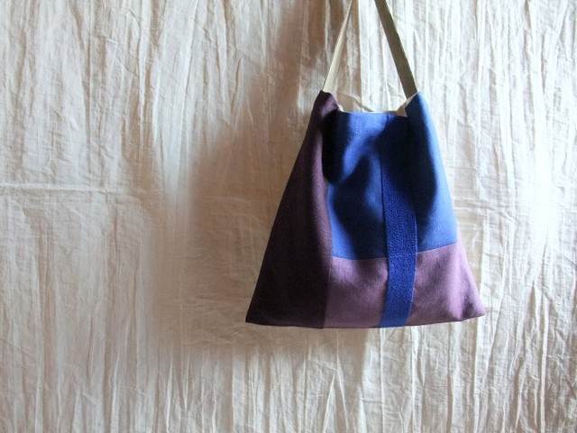 itoiro bag (raisin&blue )