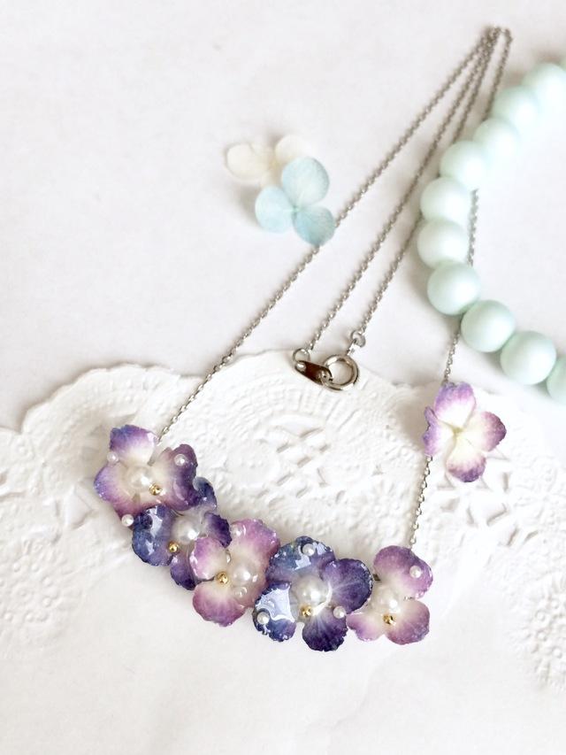 ドライフラワー紫陽花のネックレス☆1☆