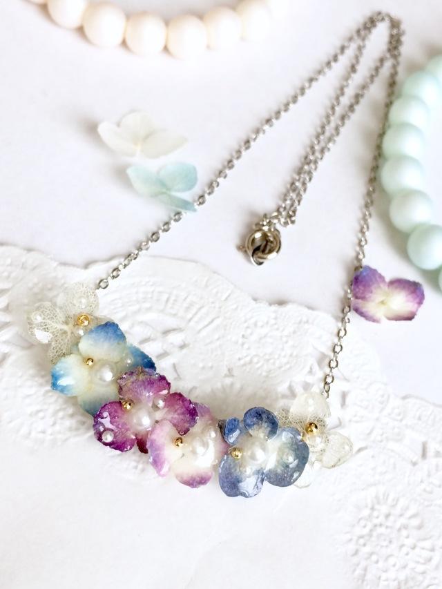 ドライフラワー紫陽花のネックレス☆2☆