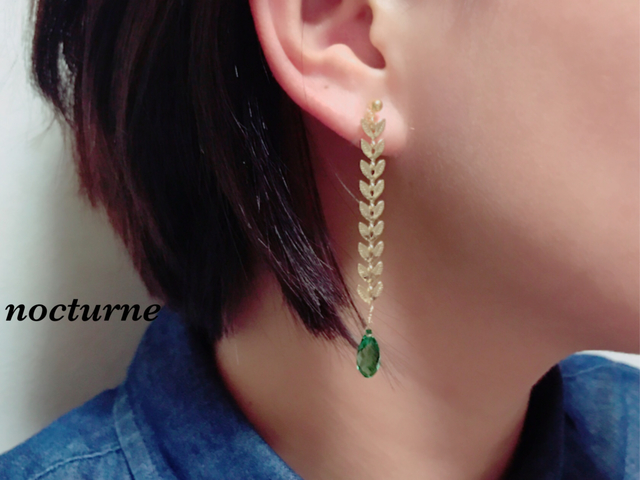 【14kgf】autumn leaf chain pierce
