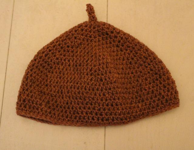 どんぐり帽子 レンガ色