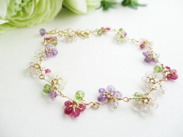 【14kgf】花色ワイヤーブレスレット