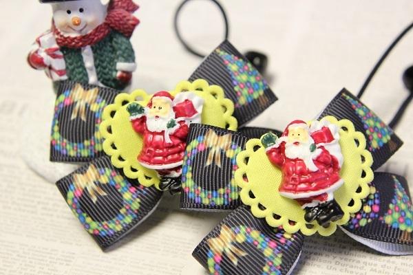 クリスマスのリボンヘアゴム☆I