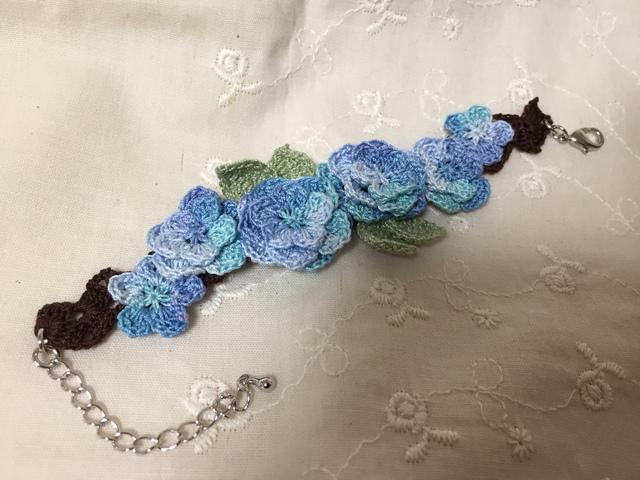 紫陽花ブレスレット ブルー