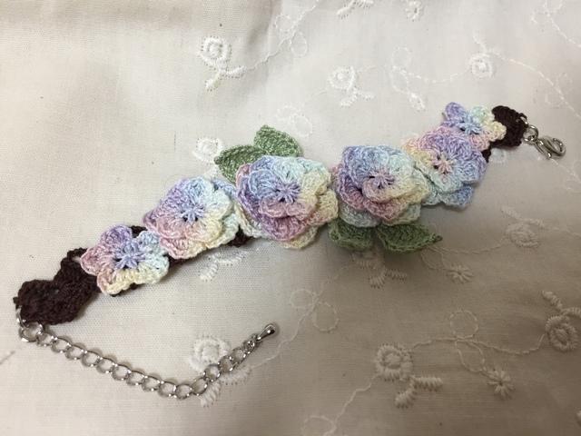 紫陽花ブレスレット イエロー