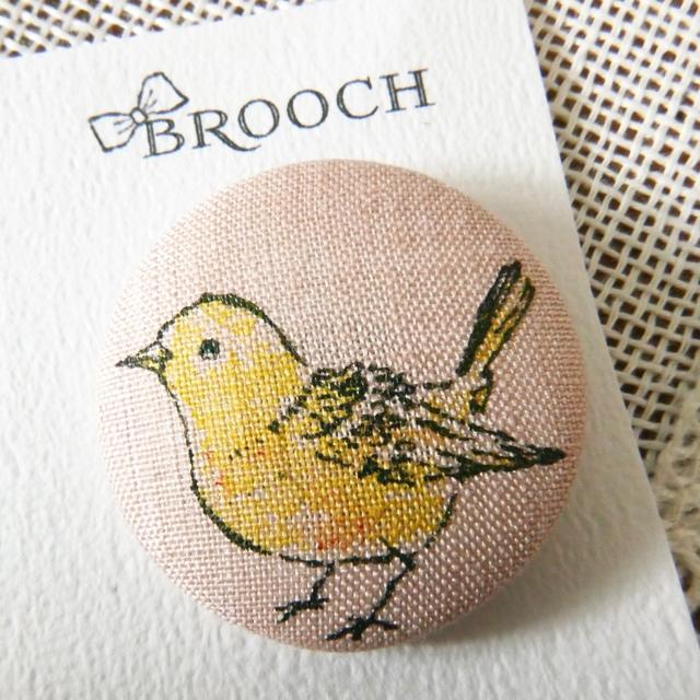 BROOCH 黄色のコトリ PINK