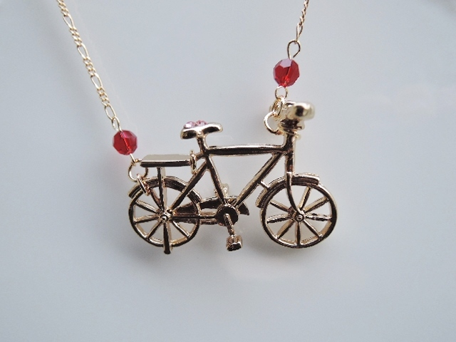☆リアルな自転車 ネックレス(571)