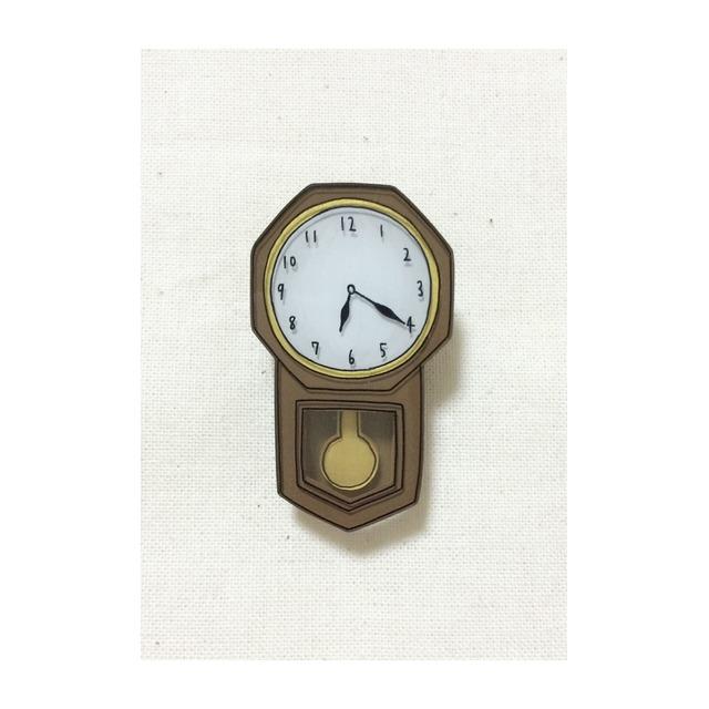 pendulum clock brooch 1