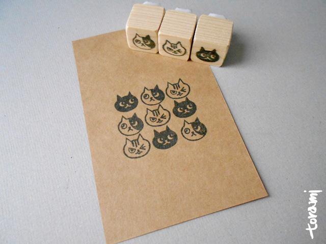 猫の顔のはんこセット61
