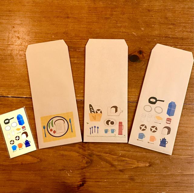 【送料無料!】パンモチーフの紙雑貨セット