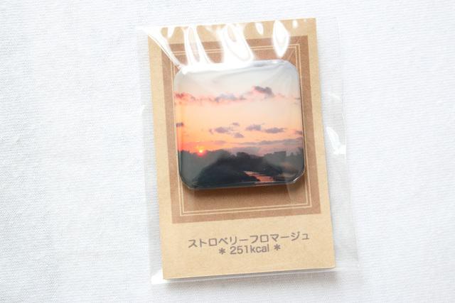 ストロベリーフロマージュ・缶バッチ【skyrestaurant】