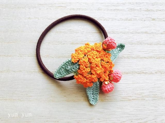草花のブーケヘアゴム8