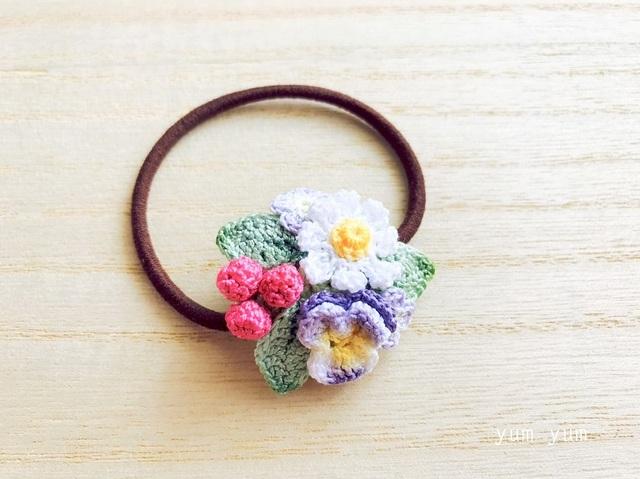 草花のブーケヘアゴム9