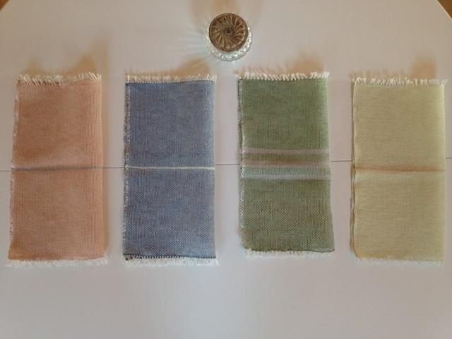 手織り リトアニアリネン糸 テーブルマット