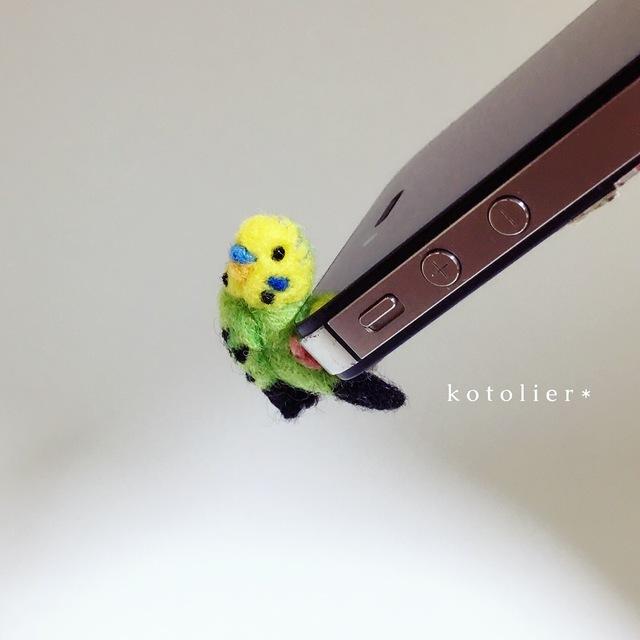 【再販】鳥 イヤホンジャック 〜しがみ...