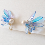 glass wing earrings