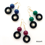 - dark color × twist ring - pierce & earring