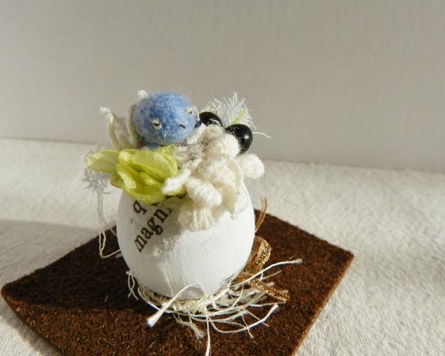 再販 しあわせの青い鳥(うずらの殻) ホワイト