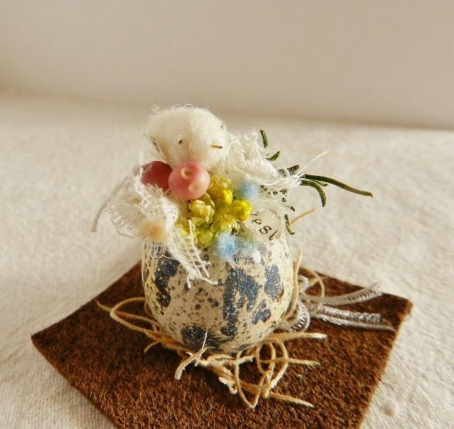 再販 しあわせの青い鳥(うずらの殻) マーブル
