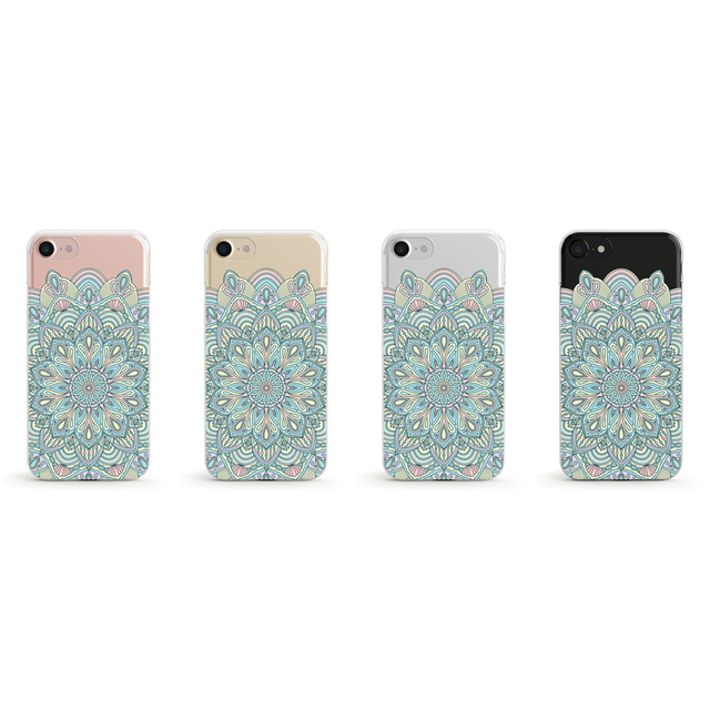 Pastel Mandala 2 クリアソフト ケース[iPhone5~iPhoneXS, iPhoneXS Max/ XR & Samsung Android]