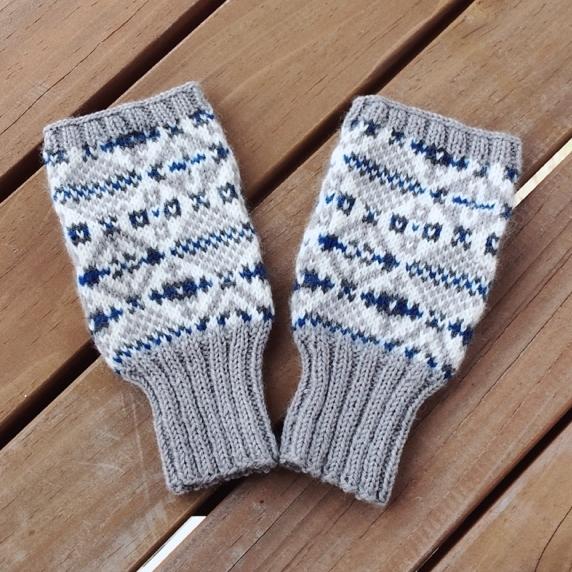 【送料無料】指なし手袋 2 (グレー・...