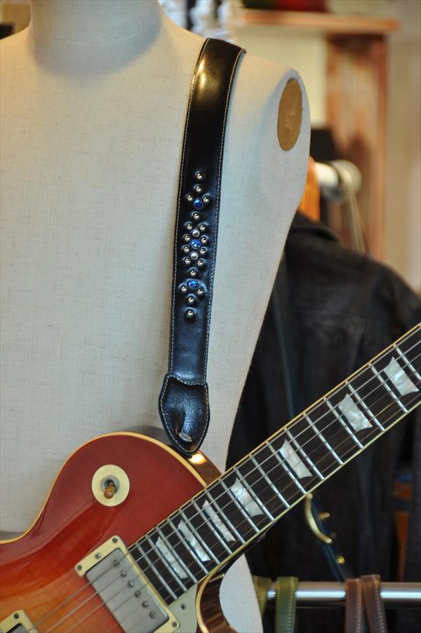 ギターストラップ スタッズ黒