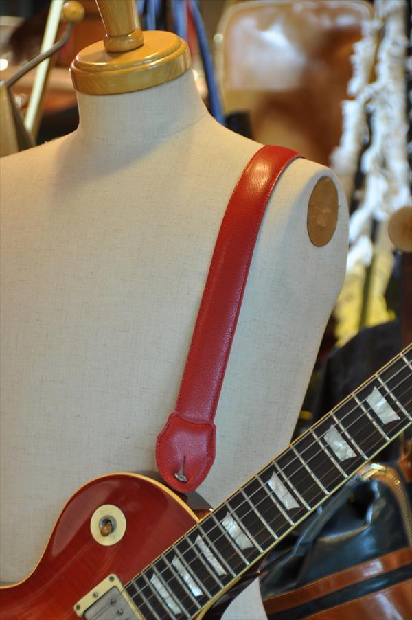ギターストラップ 赤
